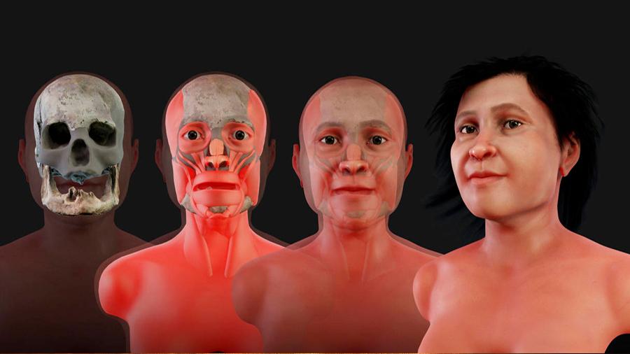 Así era el rostro de Eva de Naharon, el fósil humano más antiguo de América que fue hallado en México