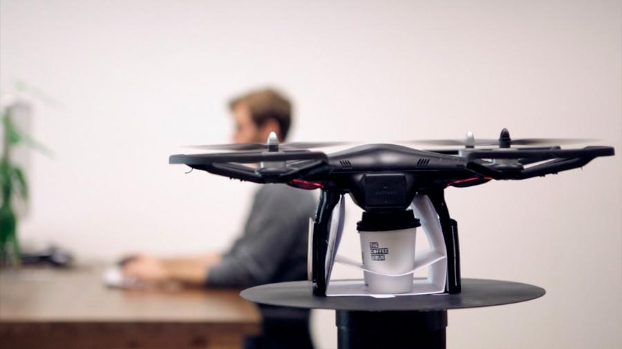 IBM patenta un sistema para repartir café volando con drones dentro de oficinas y cafeterías