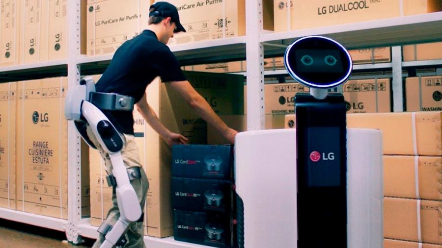 Exoesqueleto de LG proporciona unas 'superpiernas' para ayudar a cargar más peso