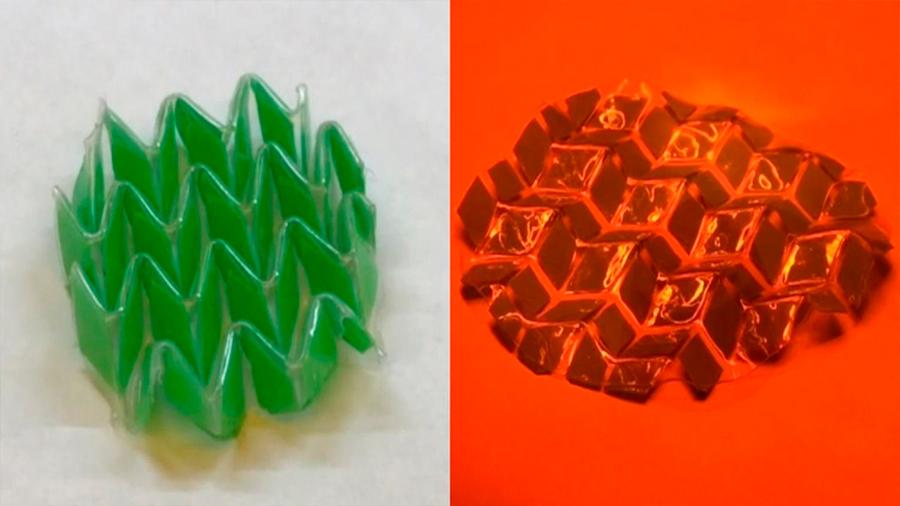 Ingenieros desarrollan un material que cambia de forma gracias a estímulos de luz y temperatura