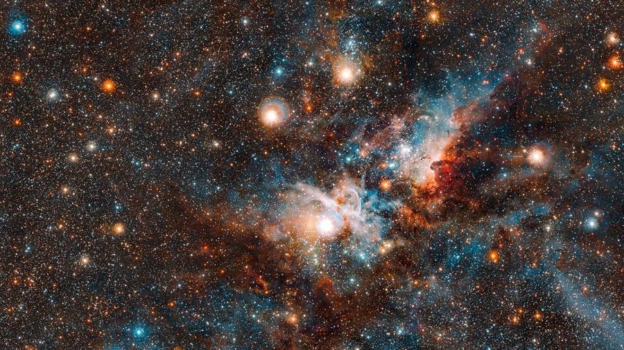 El telescopio VISTA se adentra en la nebulosa Carina, de las más grandes en la vía Láctea