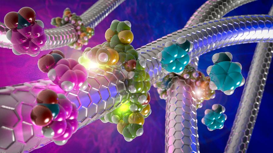 Crean anillos moleculares para controlar la actividad catalítica de los nanotubos