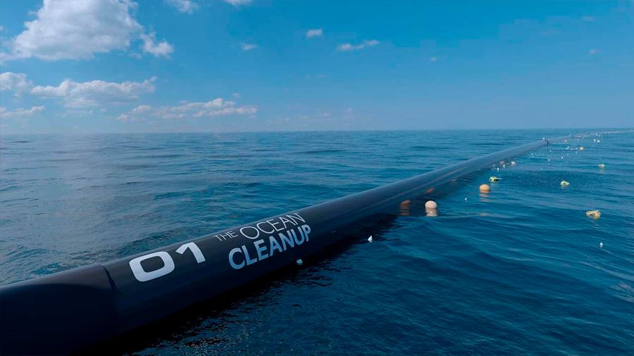 La barrera que limpiará los océanos de basura ya está lista para trabajar