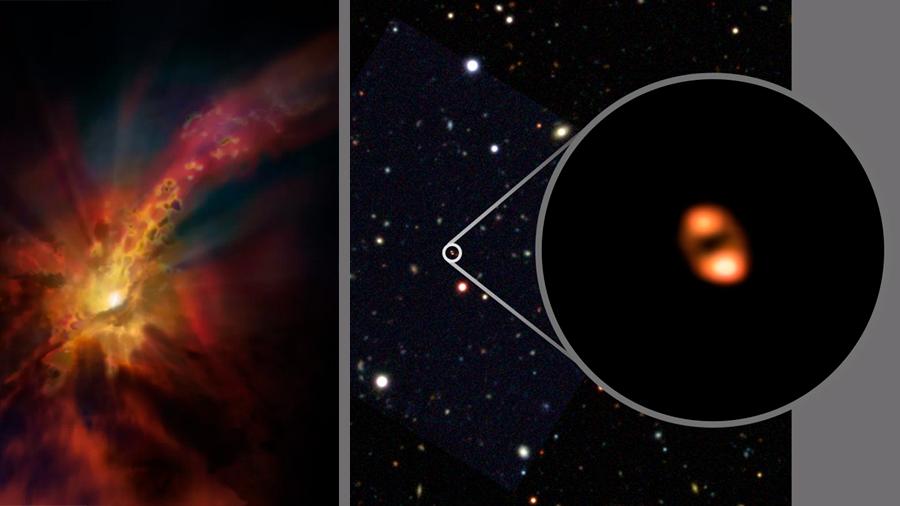 Logran primera medición de viento galáctico en el universo temprano
