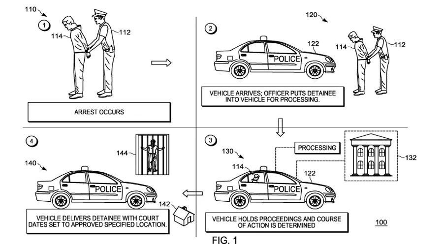 Patentan coche autónomo que te mide el alcohol y detiene, lee tus derechos, llama al abogado y recoge la fianza