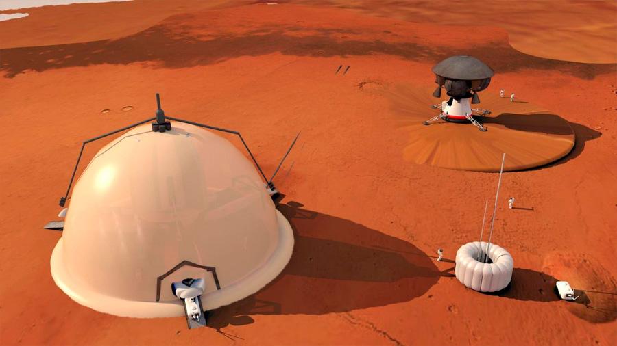Los polos, destino recomendado para empezar a colonizar Marte