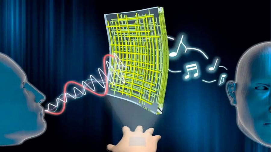 Nuevas nanomembranas son capaces de convertir la piel en altavoz