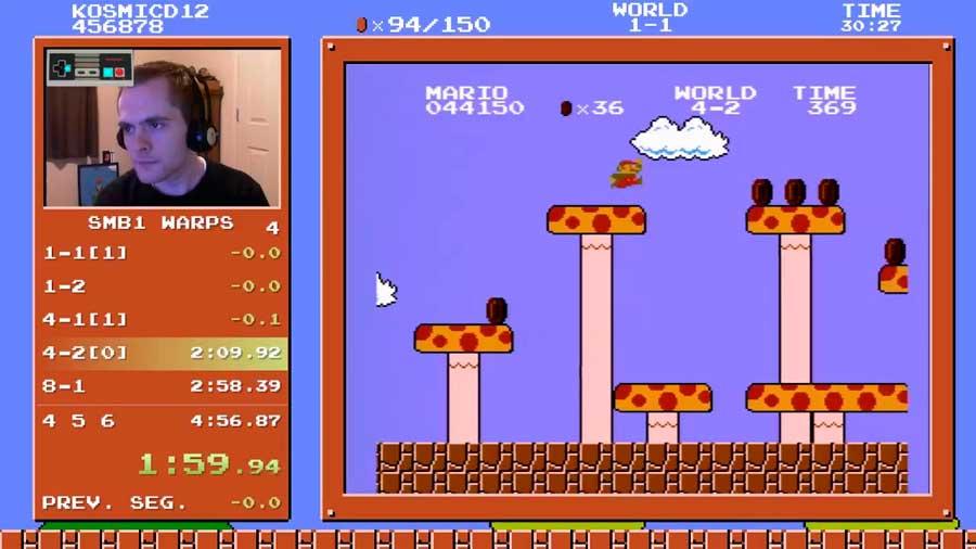 Jugador de Mario Bros. logra terminar el juego en 4:55 minutos y bate récord mundial