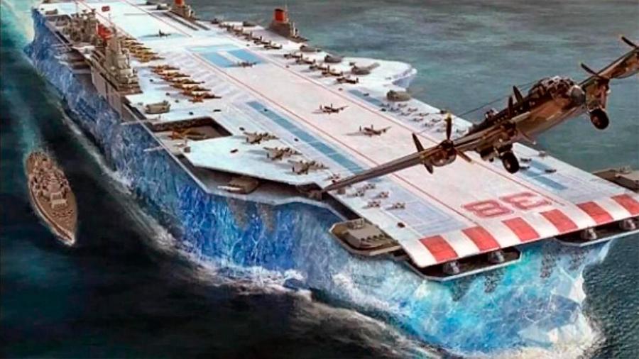 Descubren los secretos del letal portaaviones de hielo, el arma secreta para aplastar submarinos nazis