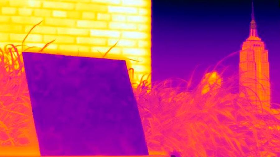 Un nuevo revestimiento de polímero enfría los edificios