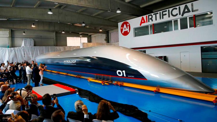 La compañía HTT presenta en Cádiz su primera cápsula del Hyperloop: 1,200 kms por hora