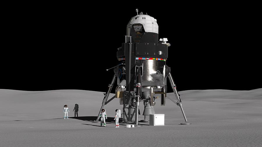 Lockheed Martin presenta un aterrizador lunar tripulado reutilizable