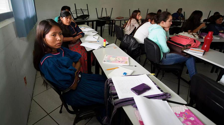 Indígena, sólo el uno por ciento de la matrícula universitaria en México