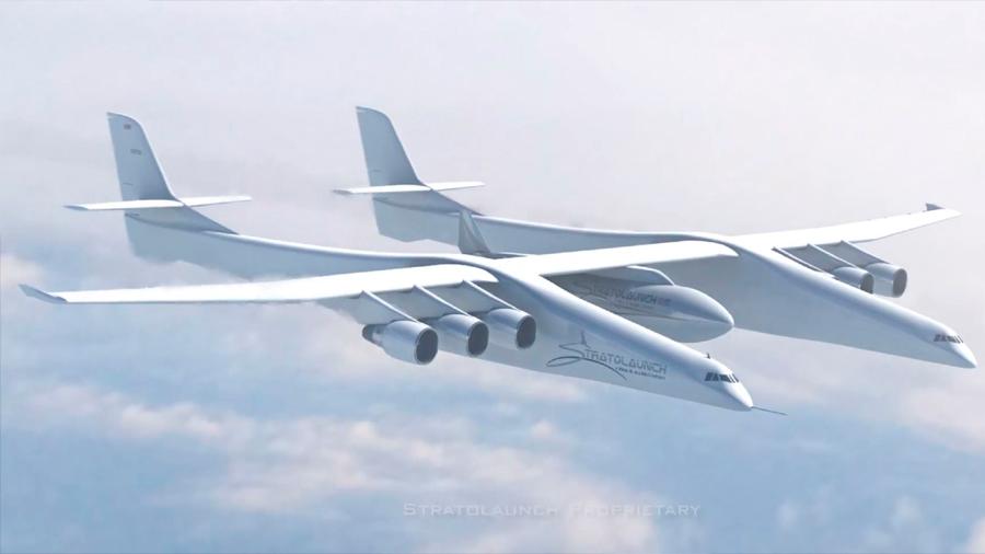 El avión más grande del mundo gana velocidad para el despegue