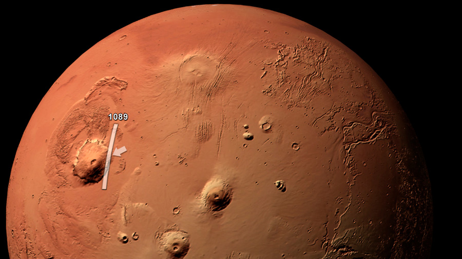 No hay una erupción volcánica en Marte: son nubes