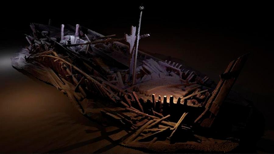 Descubren el barco hundido más antiguo del mundo en el fondo del Mar Negro: 2,400 años