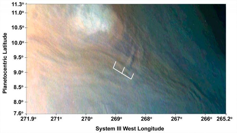 Trenes de olas de 10 kilómetros de altura recorren Júpiter