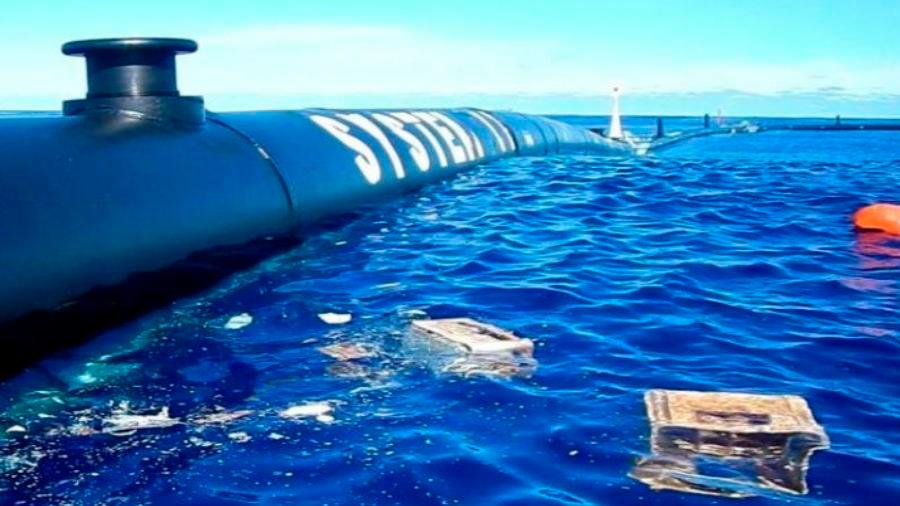 El proyecto para limpiar de plástico el océano Pacífico comienza a tener éxito