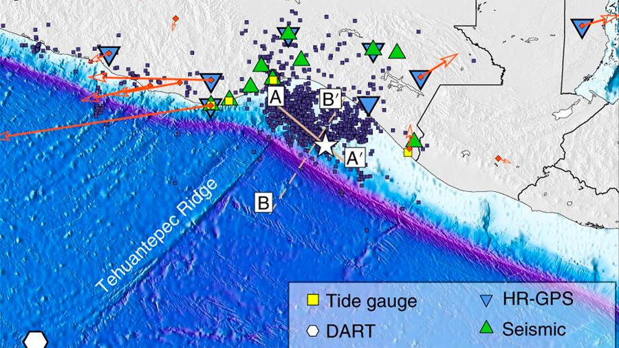 El terremoto de septiembre de 2017 en México fue tan fuerte que partió una placa tectónica
