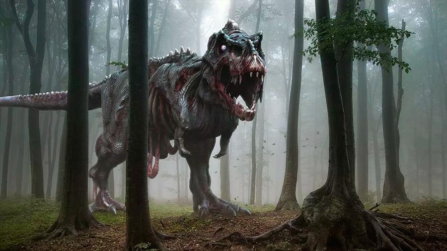 El renacer de los dinosaurios zombis