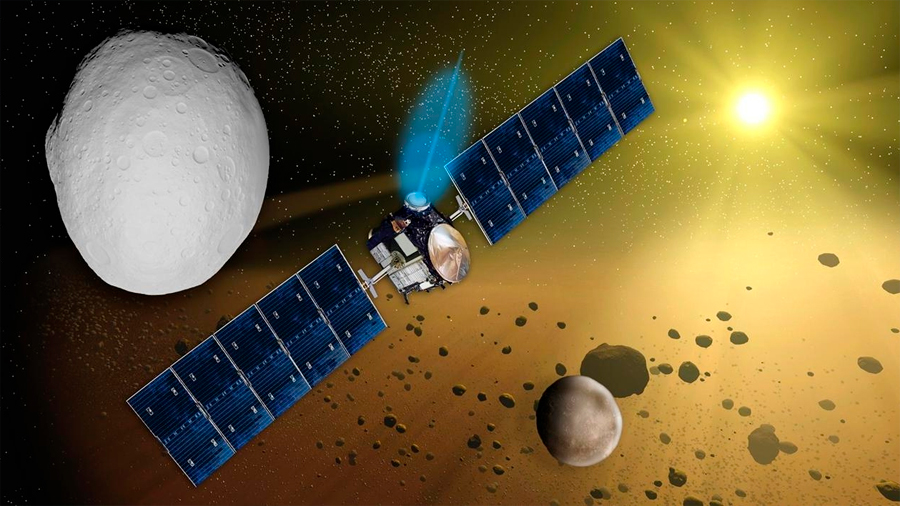 La nave Dawn de la NASA queda en silencio en la órbita de Ceres por falta de combustible