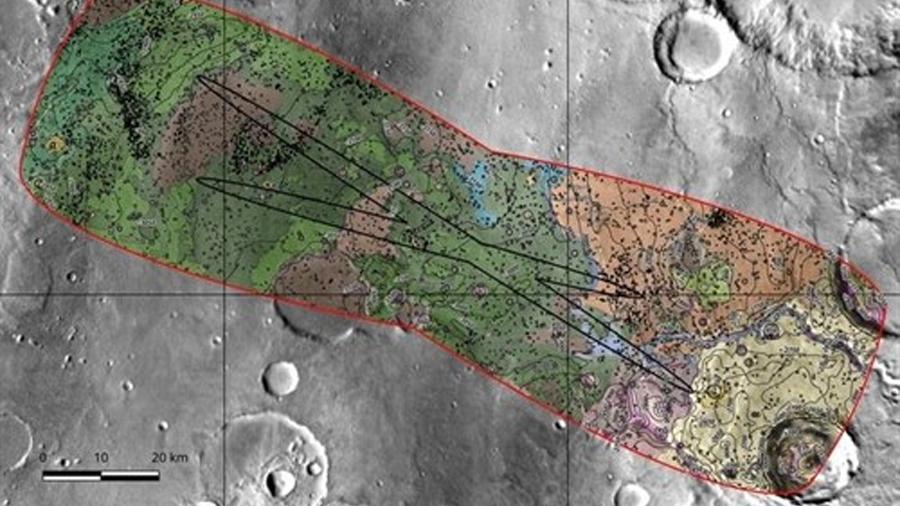 Llanura que alojó un gran lago, destino recomendado para que el ExoMars 2020 se deposite en Marte