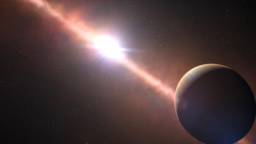 Primera filmación de un exoplaneta cercano orbitando su estrella (Video)
