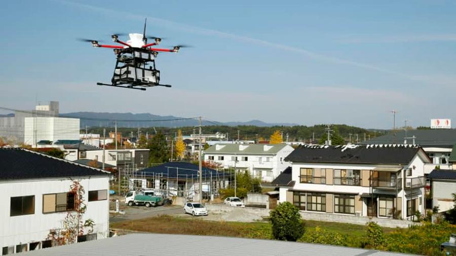 El correo japonés comenzó a usar drones de entrega