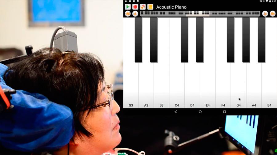 Interfaz cerebro-ordenador que permite a personas con parálisis profunda controlar tabletas