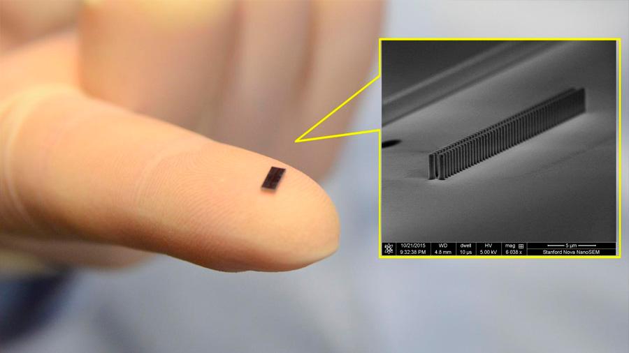 Crean un acelerador de electrones tan pequeño que cabe en un chip