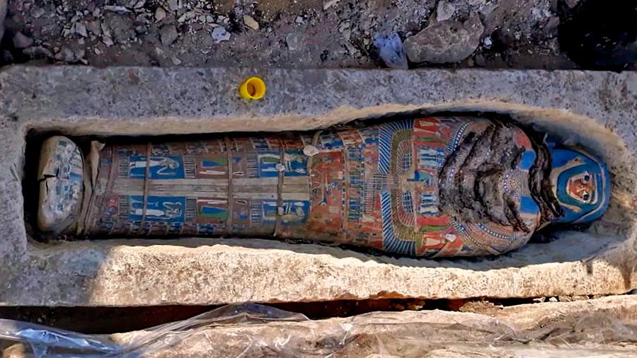 Las coloridas momias de Dahshur, el último hallazgo en una necrópolis real de Egipto