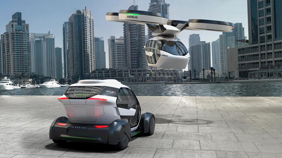 """Airbus presenta su """"taxidron"""", un híbrido entre coche y dron"""