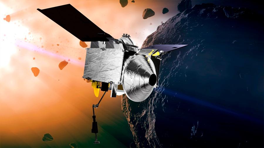 La misión OSIRIS-REx se encuentra este lunes con el asteroide Bennu