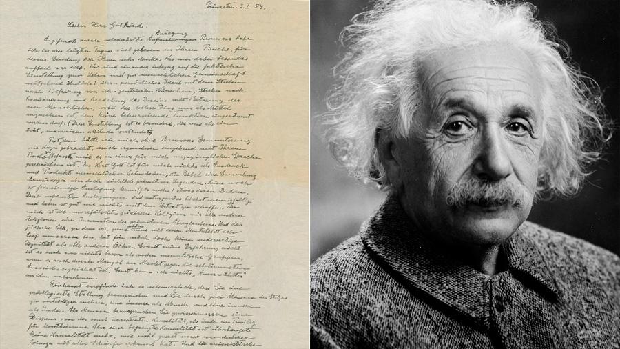 La carta de Einstein sobre Dios fue subastada en 2.9 millones de dólares