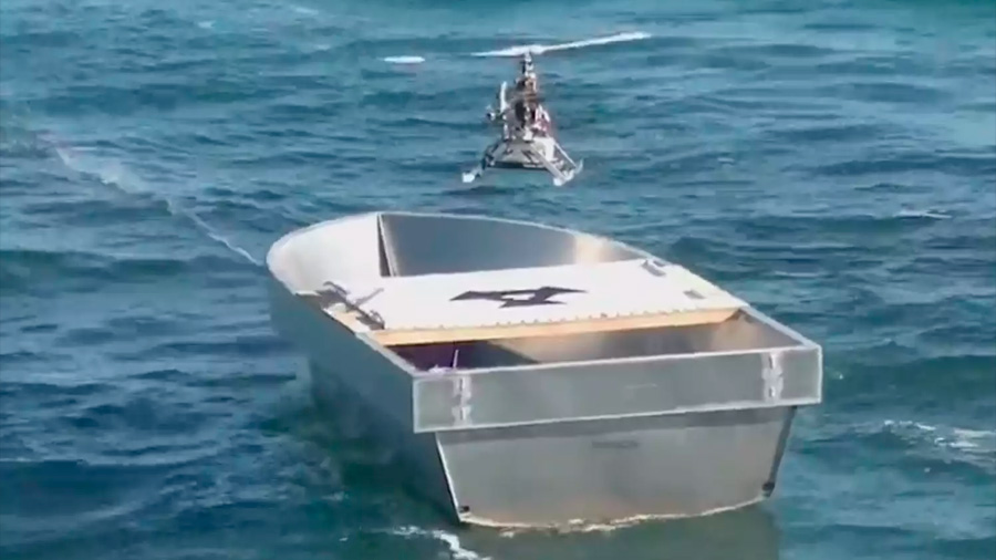 Marina de EU probará drones de carga para abastecer a buques en el mar
