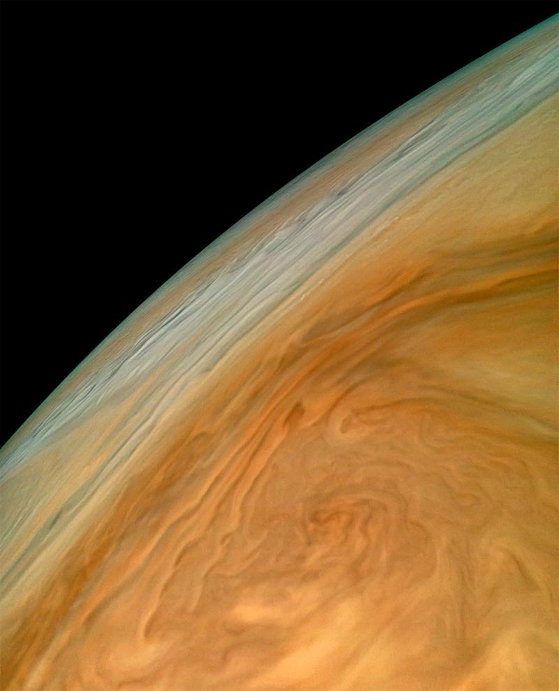 NASA revela fotografía más cercana a Júpiter