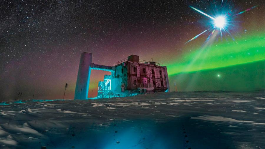 Captan una señal asociada a los neutrinos detectados en el Polo Sur