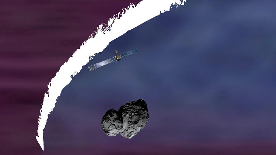 La nave Rosetta captó un arco de choque formándose en el cometa 67P