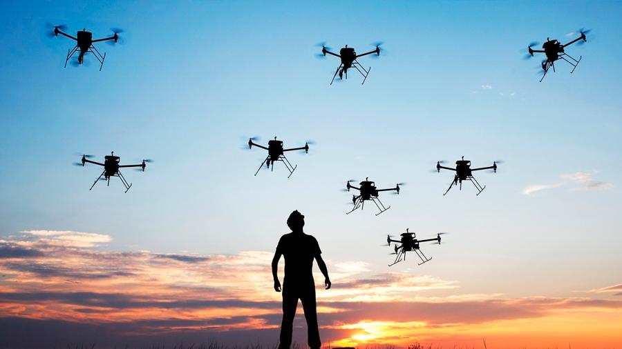 La tecnología no puede proteger a un avión frente a un enjambre de drones