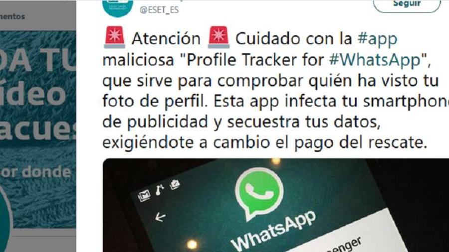 Una 'app' para saber quién ve tu foto de perfil en Whatsapp roba datos personales e infecta el móvil
