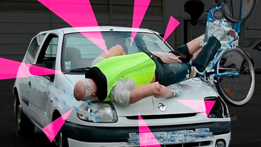 Innovadora bolsa de aire para proteger a ciclistas en caso de accidentes