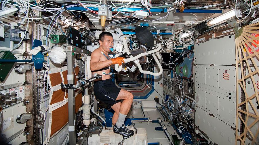Las misiones largas en el espacio atrofian los músculos espinales