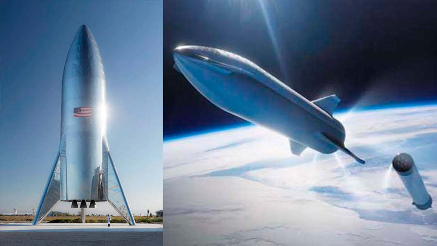 Space X completa un cohete Starship de pruebas, concebido para Marte