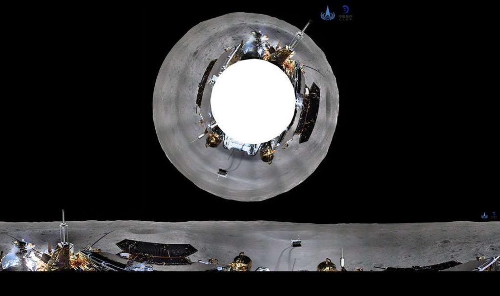 Difunden imágenes panorámicas en la cara oculta de la Luna que tomó nave china Chang'e 4