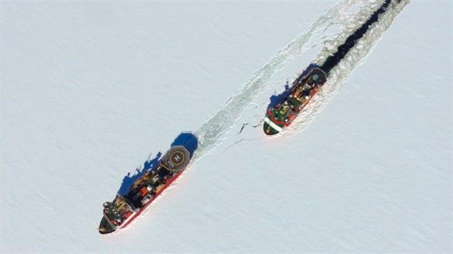 Una base surge en un glaciar antártico para estudiar su temible deshielo