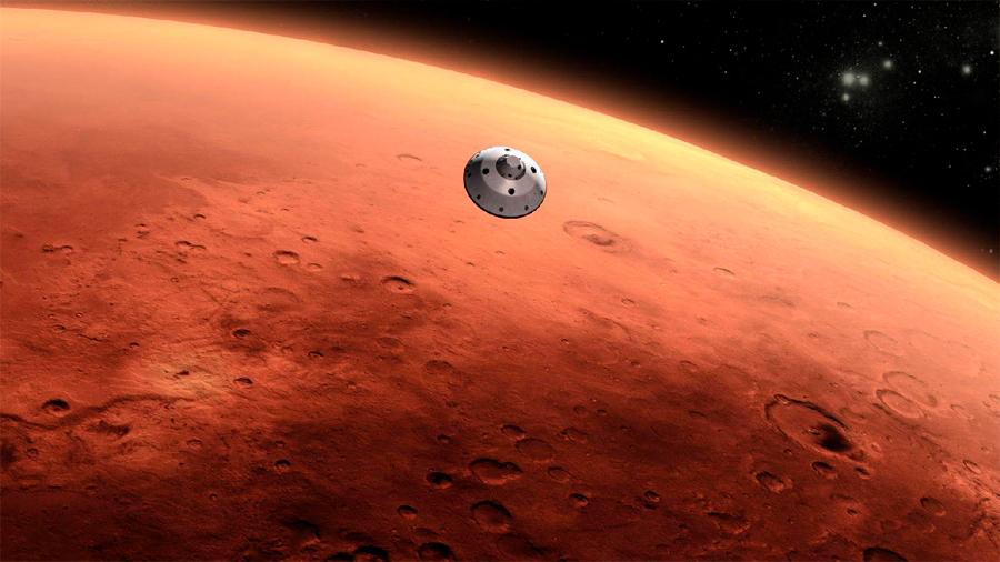 Ir y volver de Marte en seis minutos a la velocidad de la luz