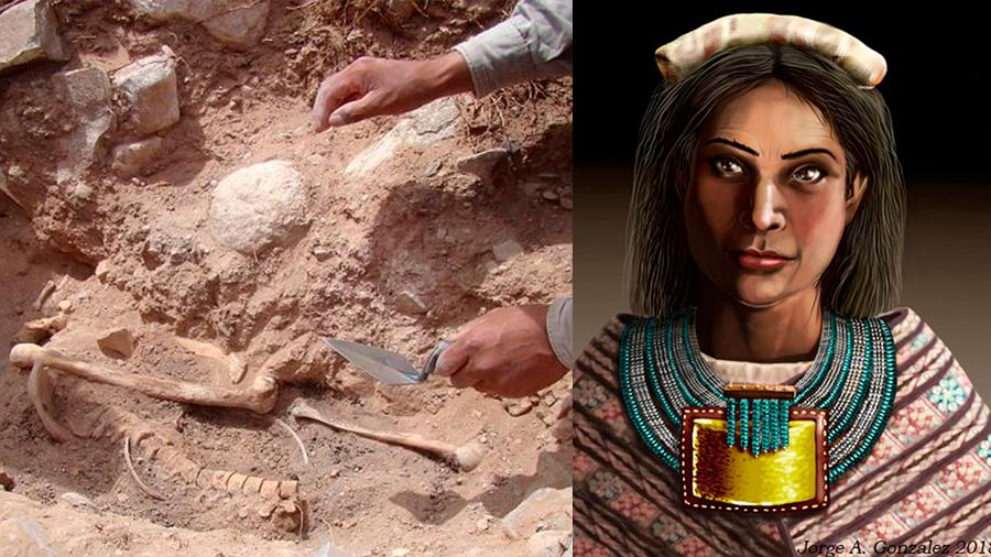 Hallan esqueleto de mujer inca en Argentina