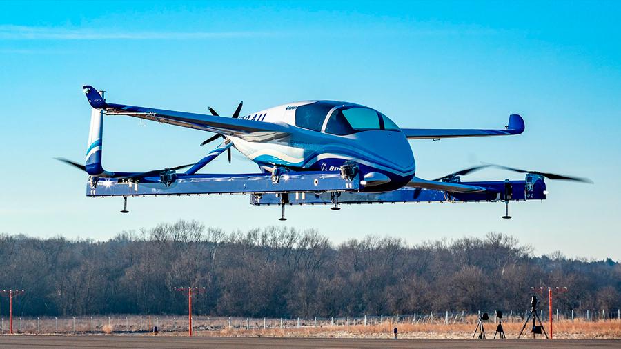Boeing probó con éxito el aerotaxi eléctrico NeXt