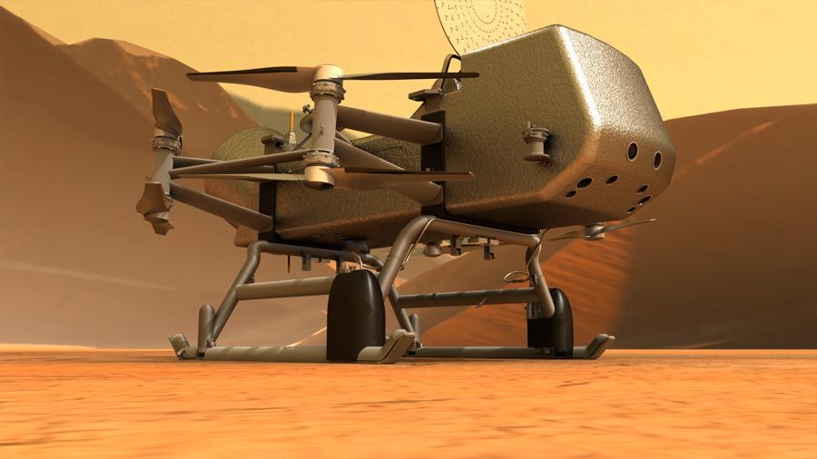 Este es Dragonfly, el 'robocóptero' para investigar en la luna Titán