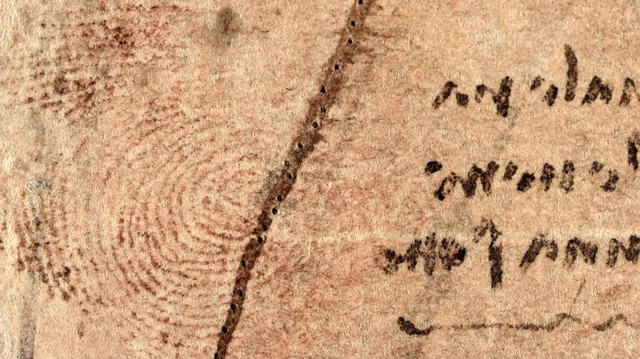 Encontrada una huella de Leonardo Da Vinci en uno de sus bocetos